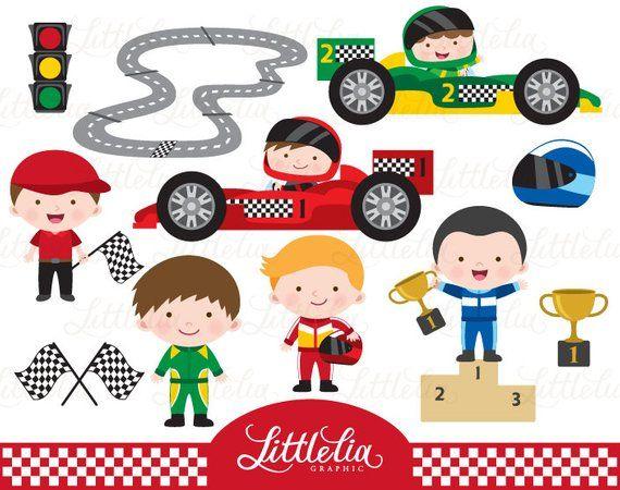 Race Cars Clipart Racer Clipart 15081 Etsy In 2020 Clip Art Race Cars Kawaii Clipart