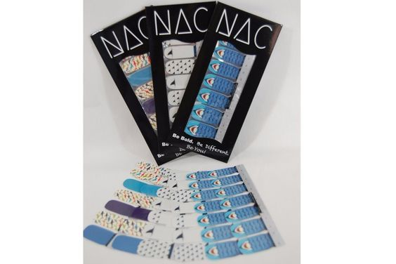 Summer Beach Shark Nail Stickers - 3 Pack (42 Total Nail Art Wraps) *** Special  product just for you. See it now!   Makeup