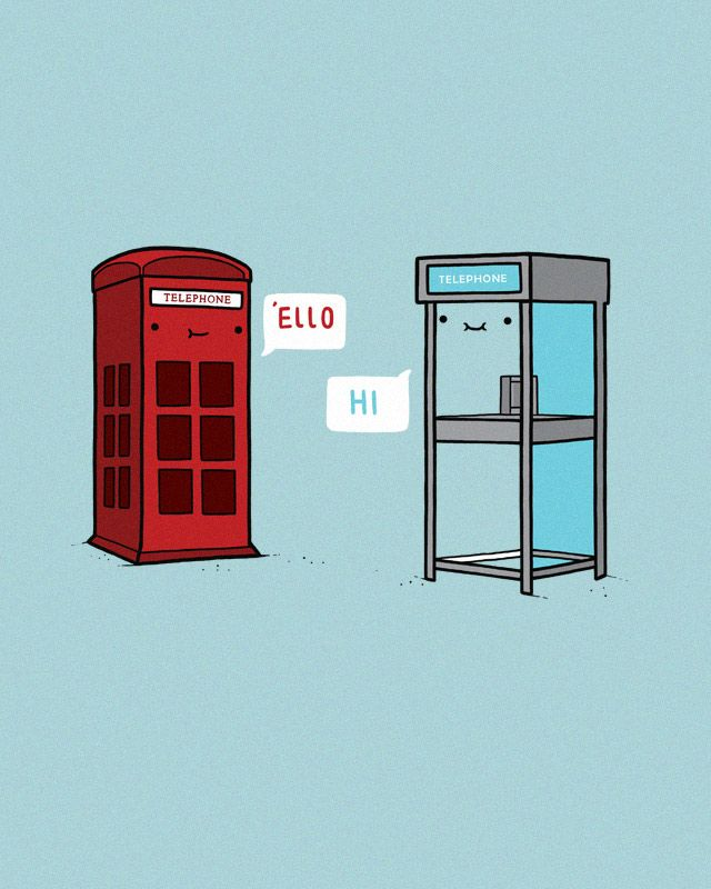 long distance: Photos Booths, Randy Otters, Foreign Exchange, British, Illustration, Art, Graphics Design, Telephone, Phones Booths
