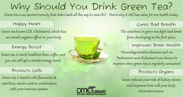 Green tea is full of polyphenols such as flavonoids and catechins. These are the main compounds responsible for the benefits of green tea; they defend your body and act as powerful antioxidants.