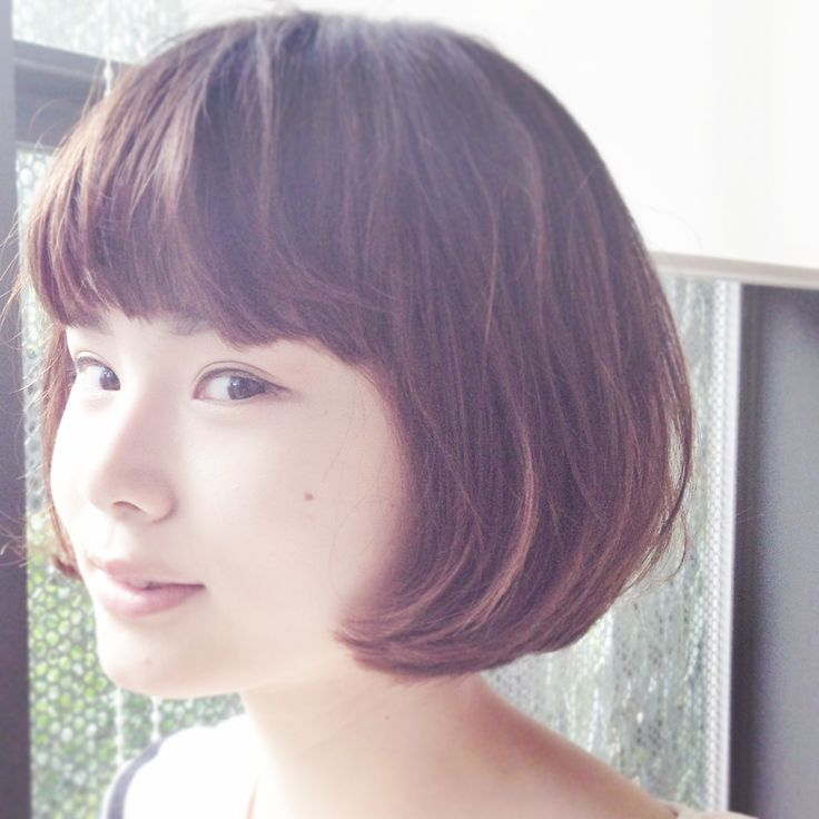 French bob Hair cut by Harukazu Ishihara @i-Barber'S #beauty #hair #bob #tokyo #harajuku #kawaii #cute