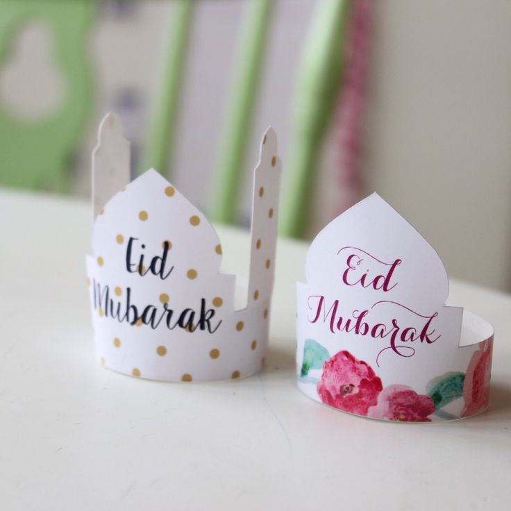 Eid mubarak cake toppers and gift tags by the creative Sweet Fajr