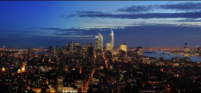New York Penthouse for Sale One Madison South Night View
