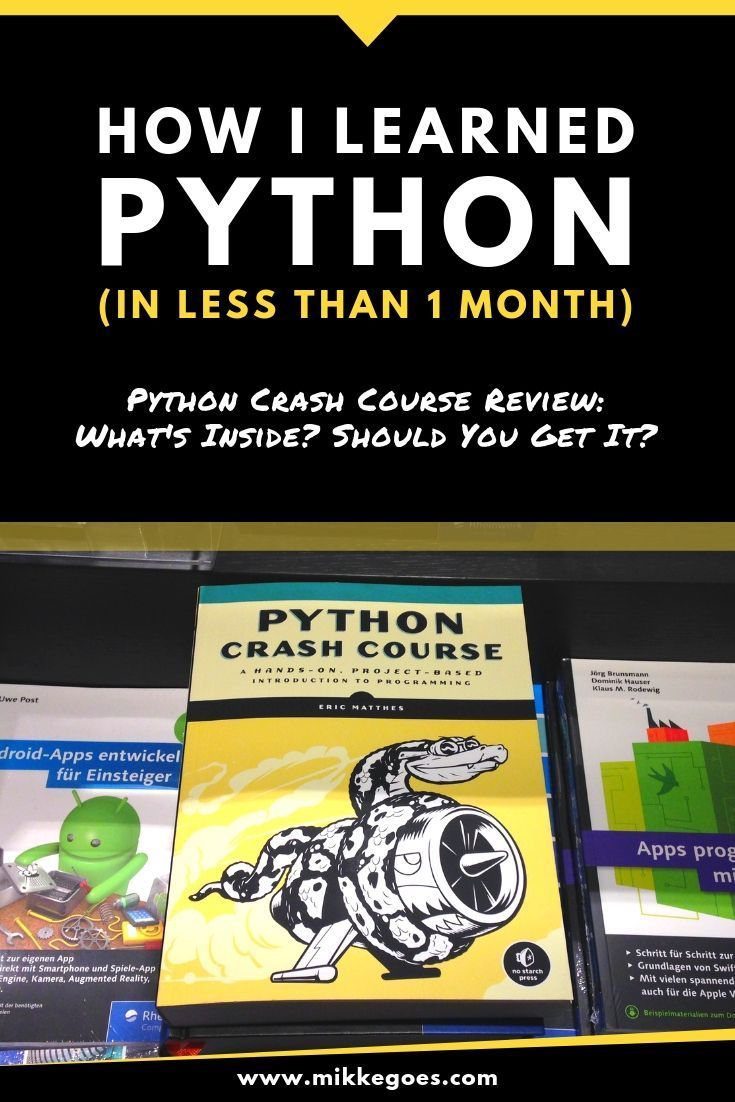 If You Want To Learn Python Programming For Beginners Check Out This Python Crash Course Review Find Ou Python Programming Learn Computer Coding Crash Course