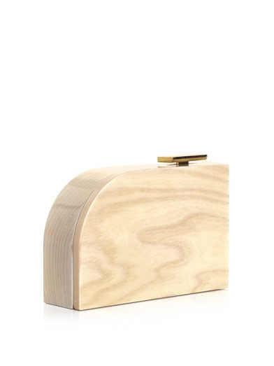 LANVIN - Ash wood lacquered clutch