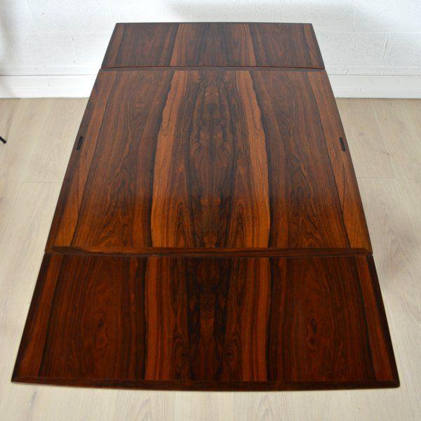 Table manger palissandre de rio ann es 60 bois vrai - Table en palissandre massif ...