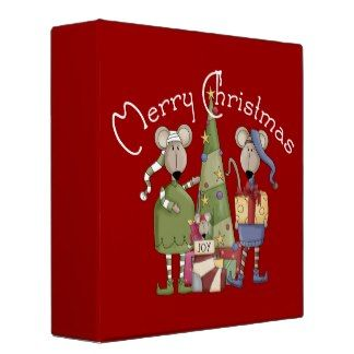 Christmas Mouse Family Binder