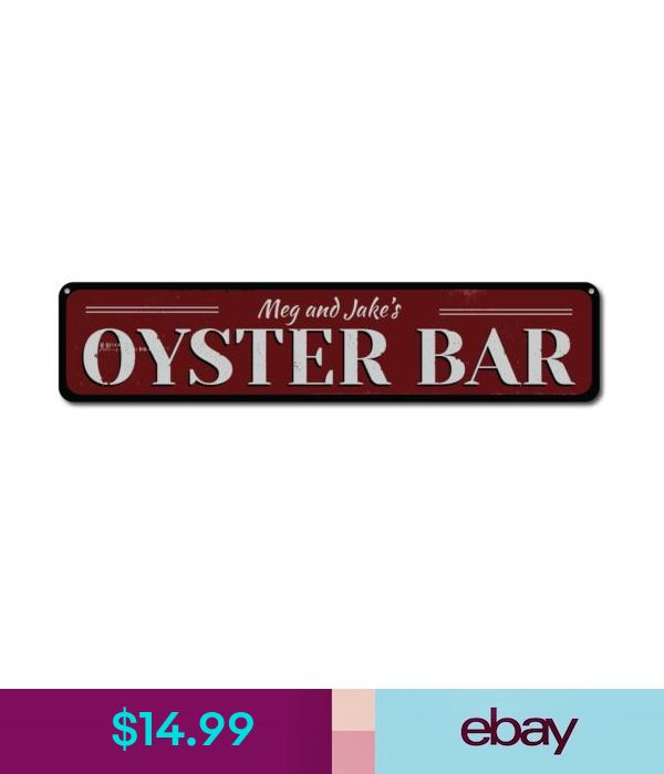 Oyster Bar Sign Personalized Seafood Restaurant Name Sign ENSA1001215