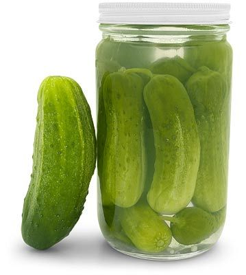From Alton Brown: If you have pickles you LOVE, don't throw away the jar and juice once it is empty, fill with cucumbers, and in a week you will have more pickles. :)