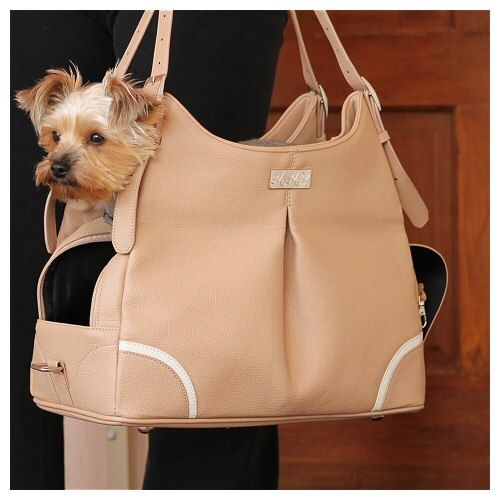 Madison Mia Michele Mocha Dog Carrier, purse style dog carrier