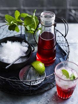 Strawberry-Gin Cordial. Umm, YUM!