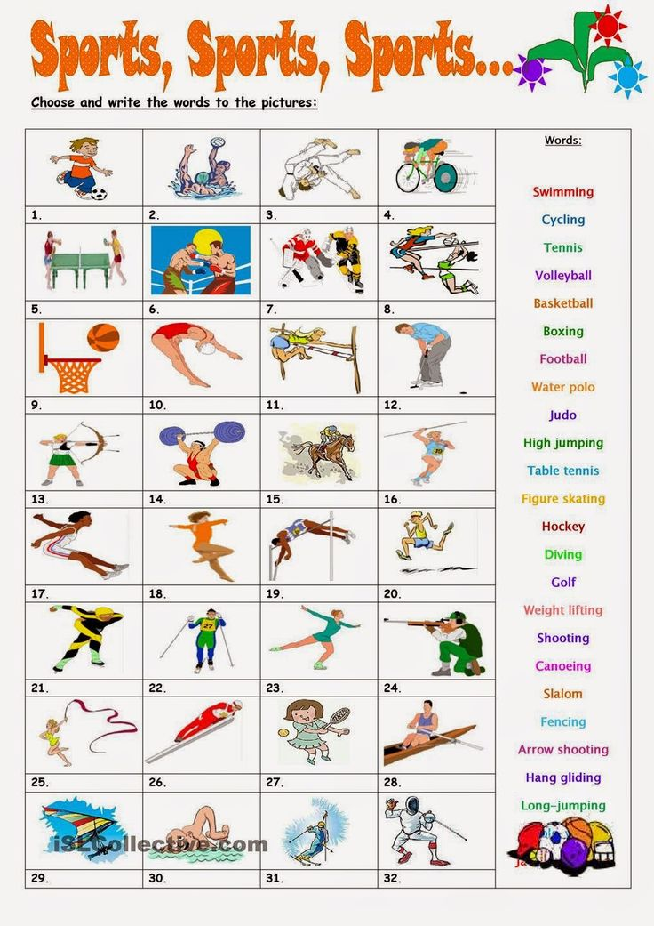 ingles exercise sport and activities - Buscar con Google