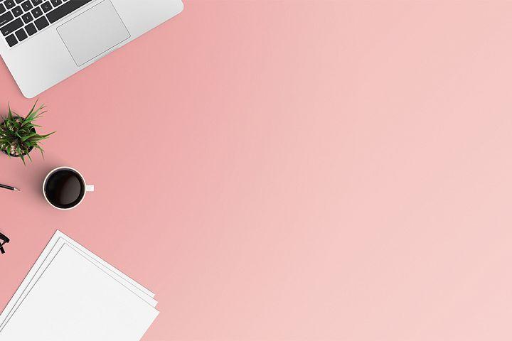 Modern Workplace Flat Lay Style 23411 Business Design Bundles Di 2021 Desain Pamflet Tanda Kayu Desain Banner
