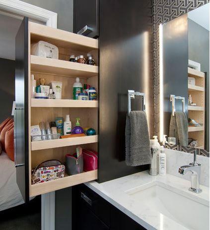 Storage idea bathroom nib wall