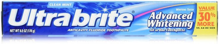 Colgate Ultra Brite Advanced Whitening Fluoride Toothpaste, Clean Mint, 6 Count * Find out more about the great product at the image link.