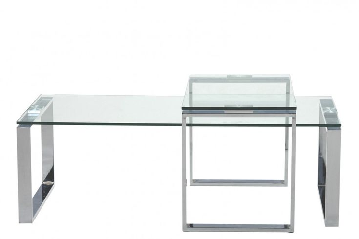 1199 STOLIK JOE CLEAR - ZESTAW 2 STOLIKÓW - Nowoczesne meble design, włoskie meble do salonu i sypialni, wyposażenie wnętrz