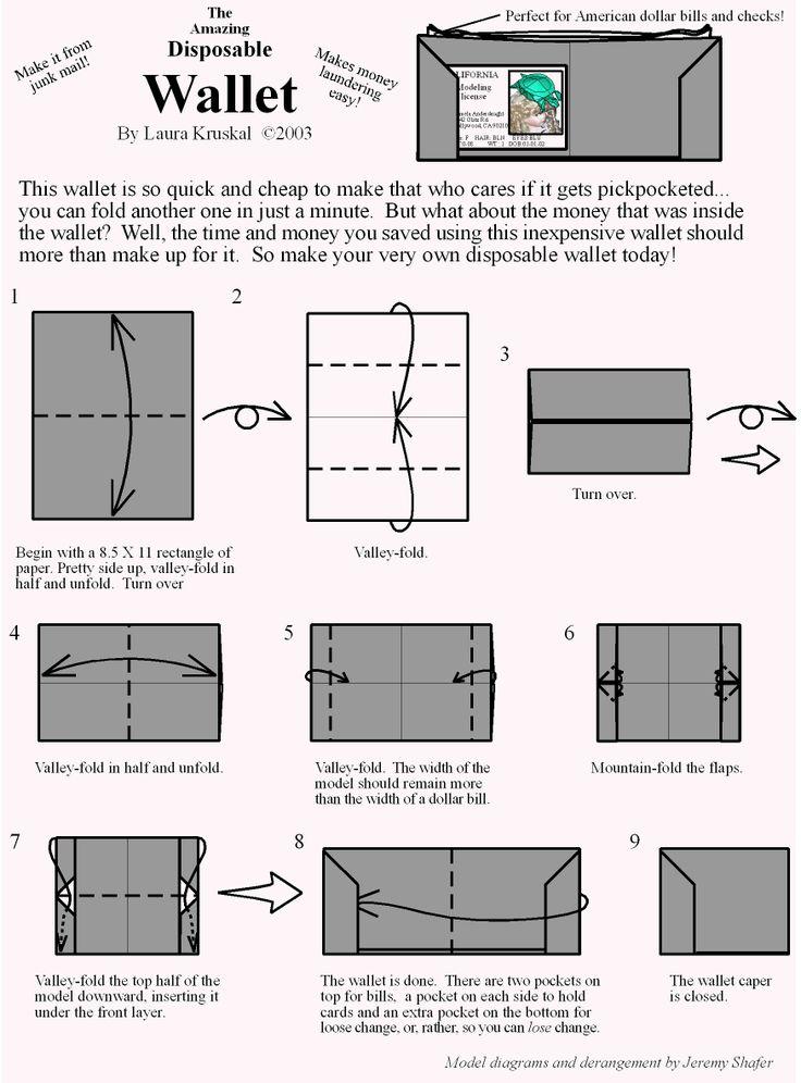 Wallet Origami Diagram | Paper Origami Guide