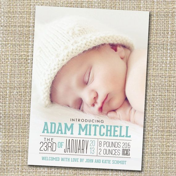photo birth announcement baby boy or girl  birth by westwillow