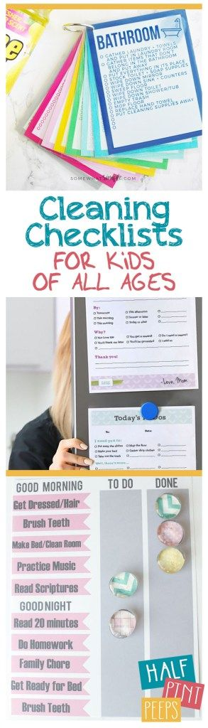 Cleaning Checklists for Kids of All Ages| Cleaning Checklists, Chore Checklists for Kids, Cleaning for Kids, Age Approproate Chores for Kids, Popular Pin