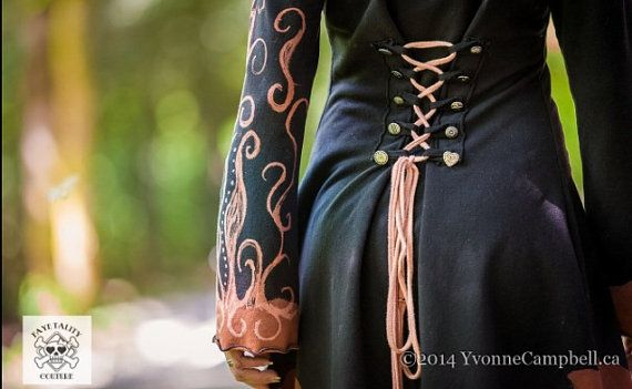 OOAK corset laced hand painted pagan clothing by FayeTalityCouture