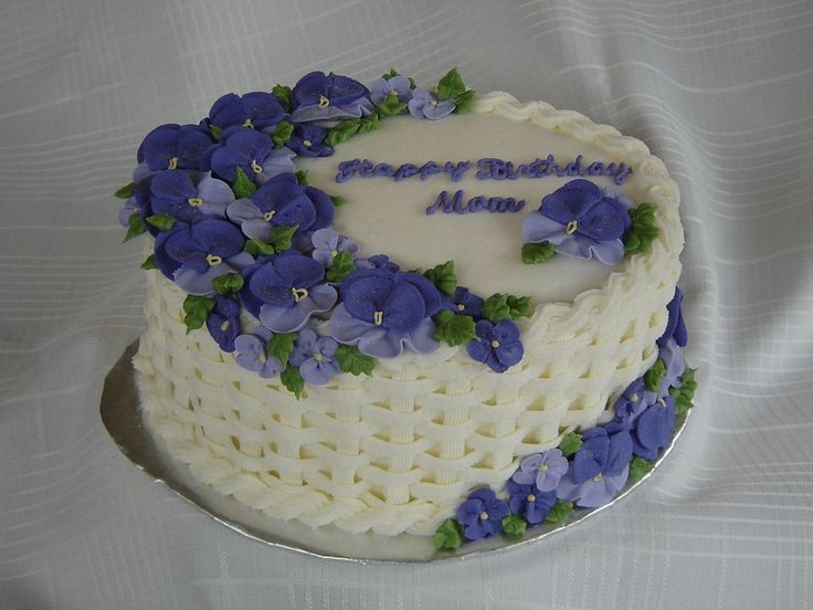 Best Pansy Cakes Images On Pinterest Cake Factory Pansies - Best birthday cake icing
