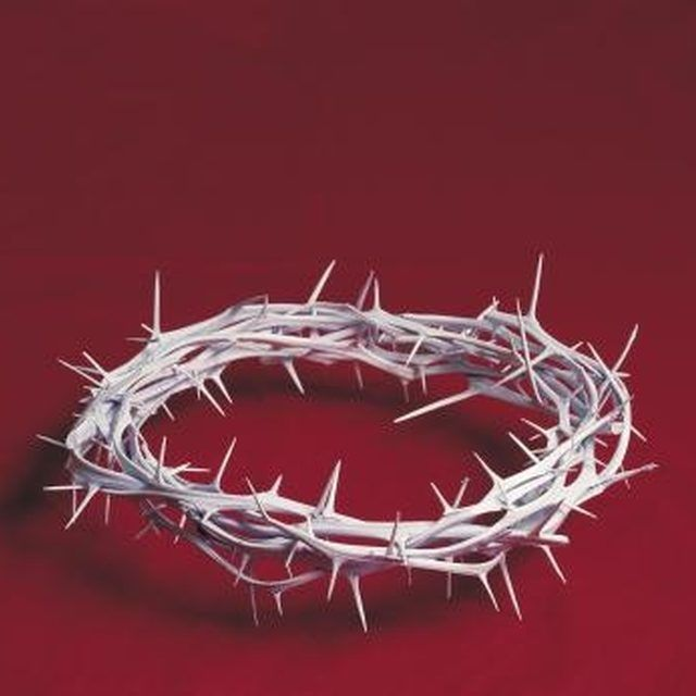 Create a crown of thorns for an Easter play.