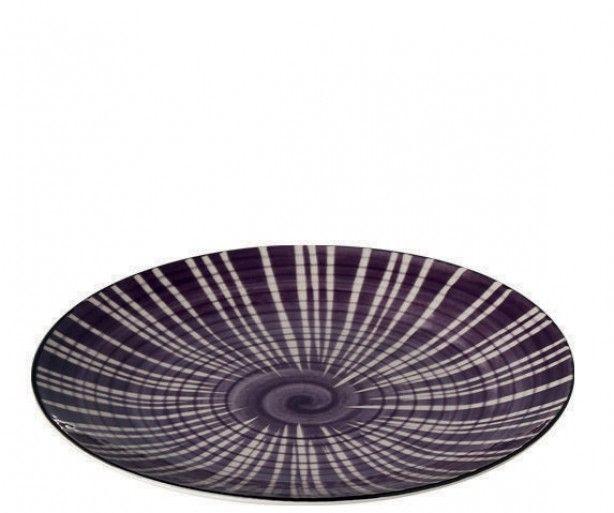 Ontbijtbord 'Modern' Paars - Doorsnede 22 cm