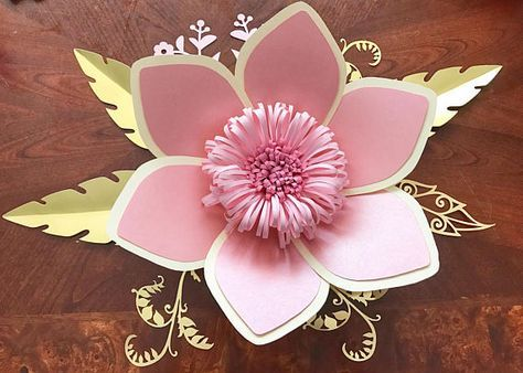 Paper flower template DIGITAL PDF version