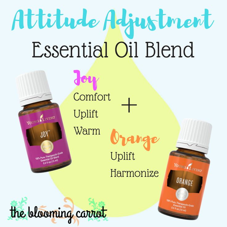 Attitude Adjustment Essential Oil Blend | Young Living Essential Oils #orangeoil #joy #essentialoils thebloomingcarrot.com