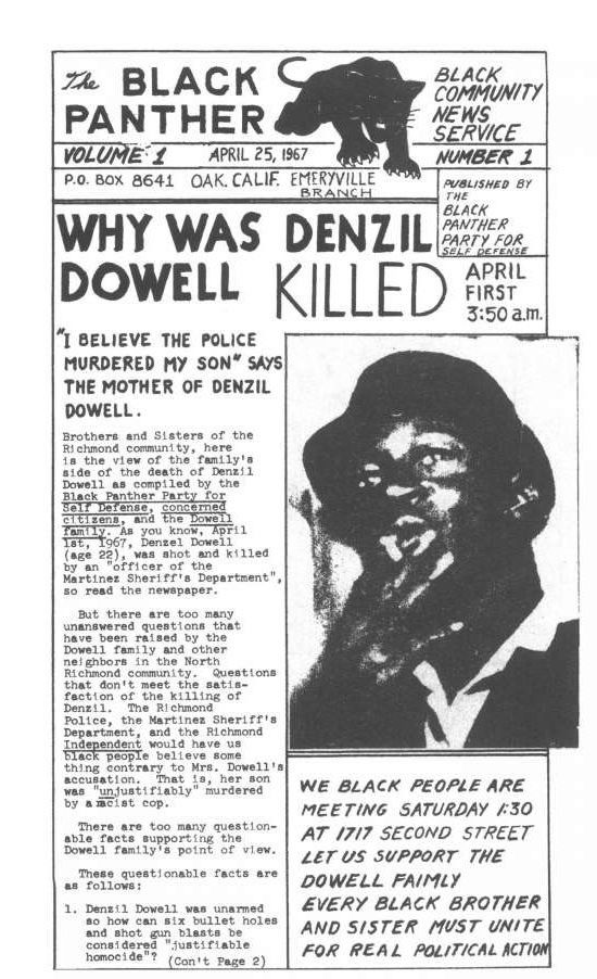 The Black Panther; April 25, 1967. WHY WAS DENZIL DOWELL ...