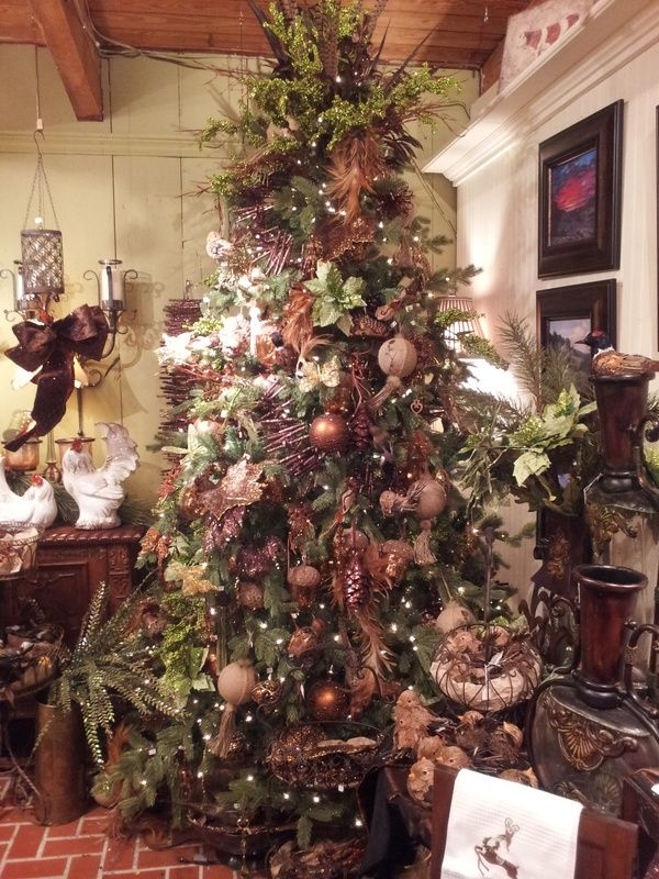 Rustic Vintage Olde Time Woodland Old World Style Christmas Tree Theme Winter Wonderland Xmas