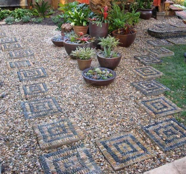 Ordinaire 25 Unique Backyard Landscaping Ideas And Garden Path Designs With Pebbles
