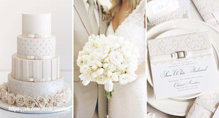 [#цвет_свадьбы@wedexpertnn | Белый ]  Классический белый остается популярным и модным. Он ассоциируется с чистотой, непорочностью, поэтому белый считается подходящим для свадебного тожества. Белый костюм жениха – эффективный способ сделать праздник незабываемым, а традиционное белое платье невесты легко комбинируется с необычными аксессуарами. Но стоит сделать акцент на убранстве зала, добавив к однотонной гамме броские элементы – воздушные шарики, цветы, салфетки на столах.