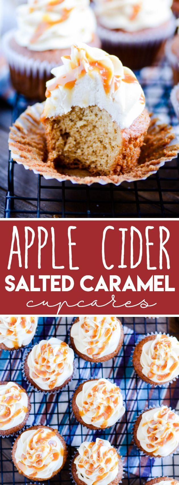 Apple Cider Cupcakes & Salted Caramel Buttercream http://www.somethingswanky.com/apple-cider-cupcakes-salted-caramel/?utm_campaign=coschedule&utm_source=pinterest&utm_medium=Something%20Swanky&utm_content=Apple%20Cider%20Cupcakes%20and%20Salted%20Caramel%20Buttercream