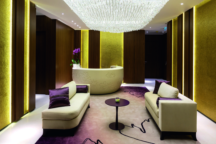 Lighting up the many interiors of the Hilton Hotel in Kiev by the use of hand blown glass pendants, suspended crystal trimmings and lighting fixtures was a true delight that sparkles with hospitality and relaxation all over. In cooperation with GA International Design, London. #light #lighting #design #crystal #chandelier #pendant #hospitality