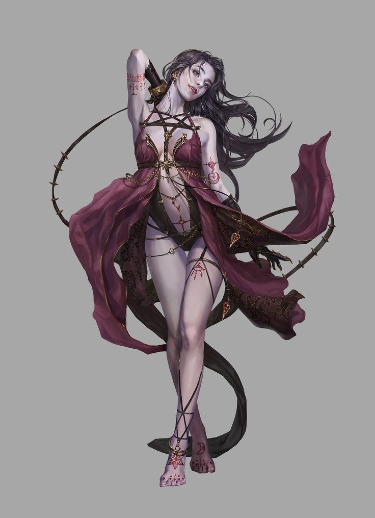 dark ritual female dancer