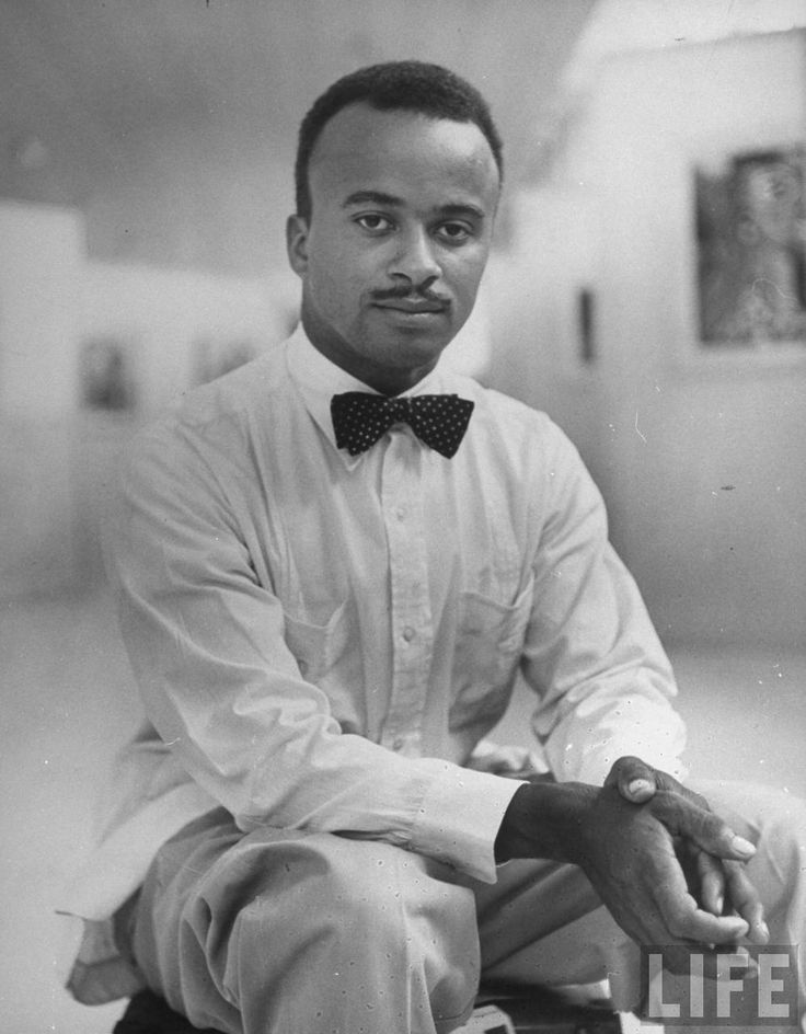 Eldzier Cortor  (b.Tidewater, Virginia, 10 Jan, 1916). Family moved to Chicago settling in South Side. Art Institute of Chicago Graduate, 1936.   1940, Works Progress Administration (WPA), drawing scenes of Depression-era Bronzeville on Chicago's South Side neighborhood. 1949, Studied in Jamaica, Cuba, & Haiti, Guggenheim Fellowship, Taught at Centre d'Art in Port-au-Prince 1949-1951. wikipedia http://www.askandyaboutclothes.com/forum/showthread.php?47669-American-Trad-men-(photos)/page82