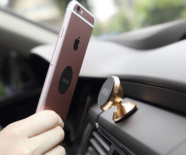Always have your phone within reach and view while you drive with the Torras Aluminum Magnet Center Console.