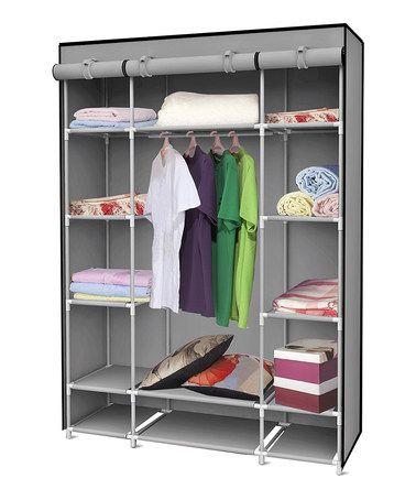 Good for Sabina    Love this Gray Storage Closet by Sunbeam on #zulily! #zulilyfinds