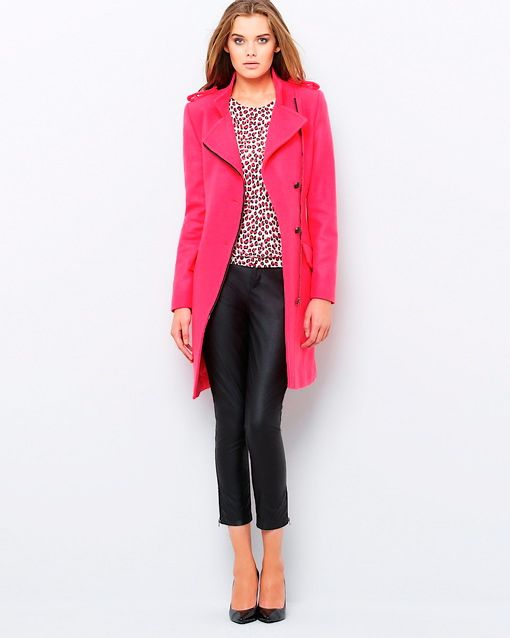 Pink coat from La Redoute