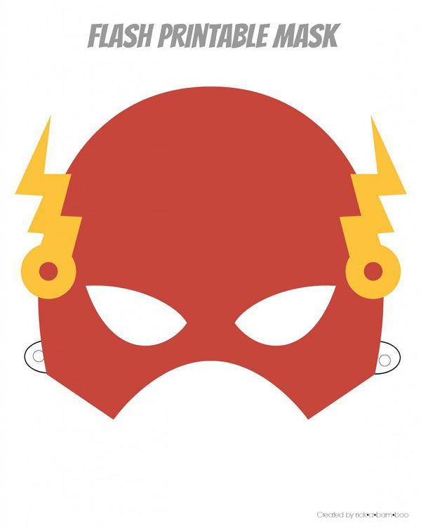 Easy Superhero Mask Template FREE