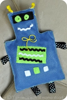 a {day} with lil mama stuart: DIY Baby Boy Gift – Crinkle Tag Robot