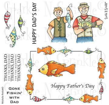Fishin' With Dad - Stamp Set 501
