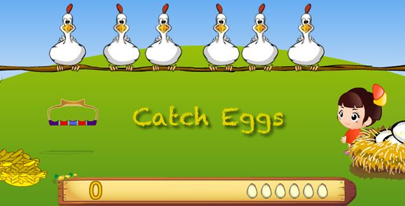 Catch Eggs For Android . <Catch Eggs>is a game  for Android OS. The project was compiled for Adobe Air and was published to *.apk file. Adobe Air Runtime was also integrated into *.apk file, so you don't need to install Adobe Air on your