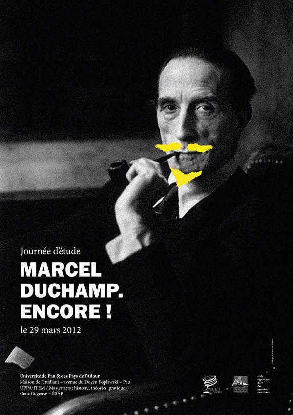 Marcel Duchamp Poster (Thomas Le Guern on Behance)