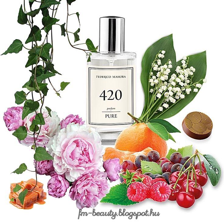 FM420 PURE női parfüm - Guess - Guess for Women-szerű illat  Csábítóan édes, szivet melengető, nőies illat gyümölcsös jegyekkel.  Illatcsalád: virágos-gyümölcsös. Fejjegyek: piros gyümölcsök, mandarin. Szív jegyek : gyöngyvirág, pünkösdi rózsa. Alap jegyek: praliné, borostyán, pézsma, karamella.