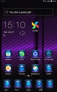 Metalic Purple Lines theme covers icons, wallpaper, folders, menus, skin and all launcher elements, to provide a complete set of phone's launcher beautification program!  Metalic Purple Lines CLauncher Theme features This theme is compatible to the wallpapers and lockers of similar...