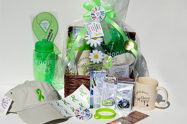 Cancer Gift Basket - Lymphoma (Lime)
