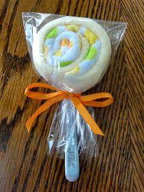 320 Days of Sunshine: Steph's Sunday Share: Baby Washcloth Lollipops