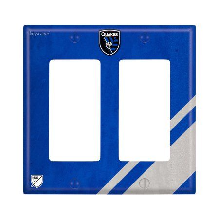 San Jose Earthquakes Double Rocker Light Switch Cover